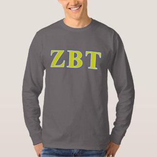 ゼータベータTauの黄色および青の手紙 Tシャツ