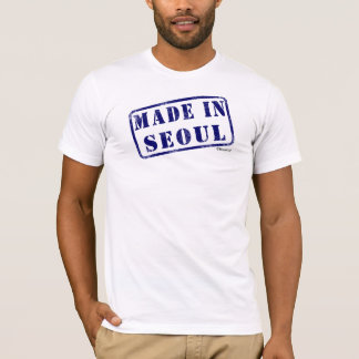 ソウルで作られる Tシャツ