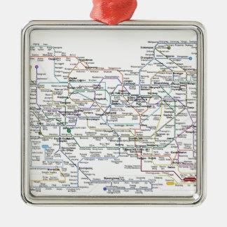 ソウルの地下鉄の地図 メタルオーナメント