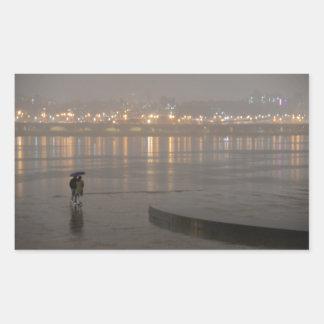 ソウルの雨 長方形シール