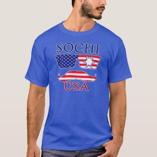 ソチ米国の雪片 Tシャツ