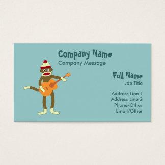 ソックス猿のアコースティックギター 名刺