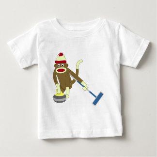 ソックス猿のオリンピックカール ベビーTシャツ