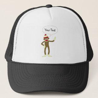 ソックス猿のカスタマイズ可能な喜劇的なスピーチの泡 キャップ