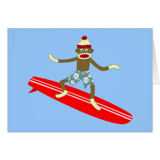 ソックス猿のサーファー カード