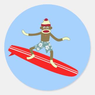 ソックス猿のサーファー ラウンドシール