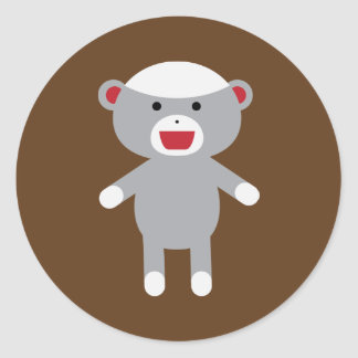 ソックス猿のステッカー ラウンドシール