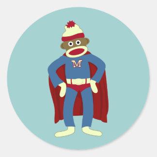 ソックス猿のスーパーヒーロー ラウンドシール