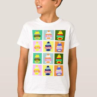 ソックス猿のポップアート Tシャツ