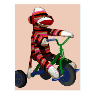 ソックス猿の三輪車 ポストカード