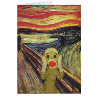 ソックス猿の叫びカード グリーティングカード