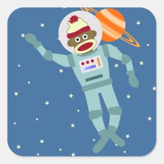 ソックス猿の宇宙飛行士 スクエアシール