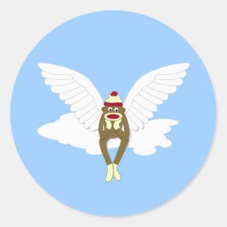 ソックス猿の守り神 ラウンドシール