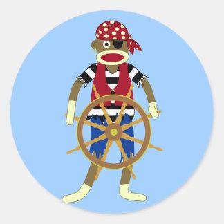 ソックス猿の海賊 ラウンドシール
