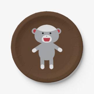 ソックス猿の紙皿 ペーパープレート