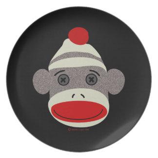 ソックス猿の顔 プレート