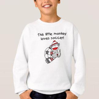 ソックス猿はサッカーのTシャツおよびギフトを愛します スウェットシャツ