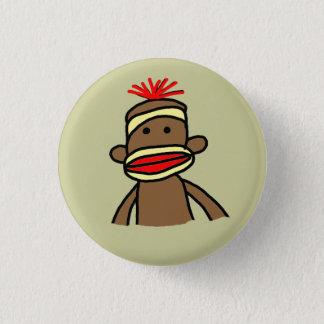 ソックス猿 3.2CM 丸型バッジ