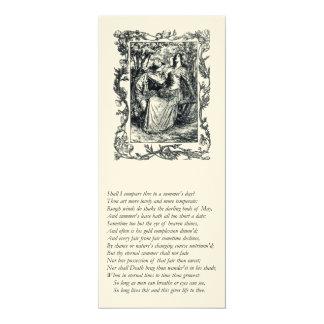 ソネット#ウィリアム・シェイクスピア著18 カード