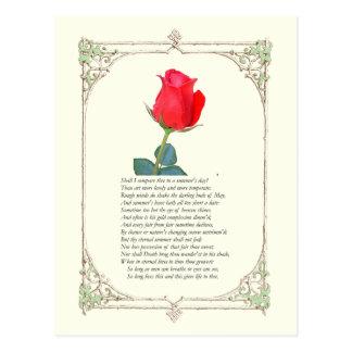 ソネット#ウィリアム・シェイクスピア著18 ポストカード