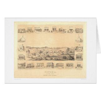ソノラ、CA.のパノラマ式の地図1854年(1647A元通りになる) - カード