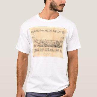 ソノラ、CA.のパノラマ式の地図1854年(1647A Unrestored) - Tシャツ