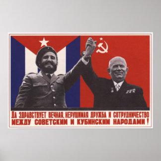 ソビエトおよびキューバの友情 ポスター