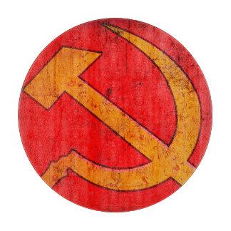 ソビエトソ連国旗の円形のまな板 カッティングボード