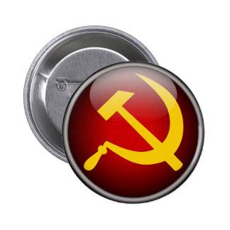 ソビエトロシアのなソ連国旗 5.7CM 丸型バッジ