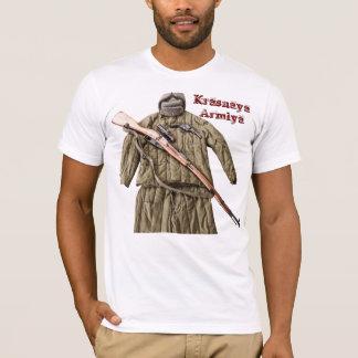 ソビエトロシア人のMosin Nagantの第2次世界大戦の赤軍のTシャツ Tシャツ