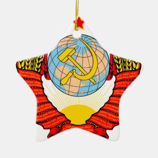 ソビエト懇親会の紋章付き外衣 セラミックオーナメント