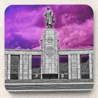ソビエト戦争記念物、ベルリン、ドイツ-部分B/W コースター