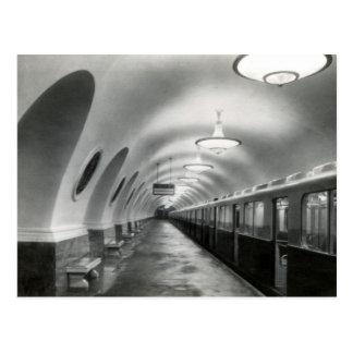 ソビエト社会主義共和国連邦のソビエトのモスクワの地下鉄(Metropoliten)、1939年 ポストカード