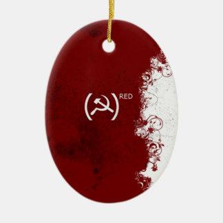 ソビエト社会主義共和国連邦の抽象的で赤いソビエト セラミックオーナメント