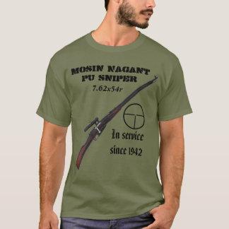 ソビエト第2次世界大戦のMosin Nagantの狙撃兵のTシャツ! Tシャツ