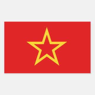 ソビエト赤軍の旗のステッカー 長方形シール