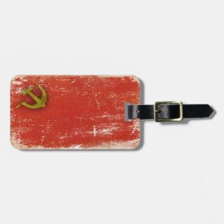 ソビエト連邦からの汚れた旗が付いている荷物のラベル バッグタグ