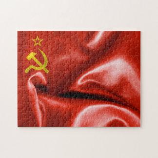 ソビエト連邦の旗のジグソーパズル ジグソーパズル