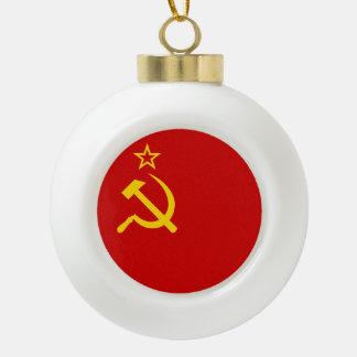 ソビエト連邦の旗 セラミックボールオーナメント