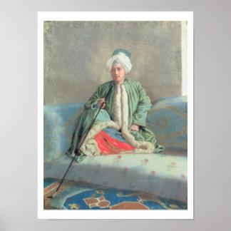ソファで着席する紳士 ポスター