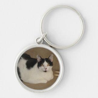 ソファの猫 キーホルダー