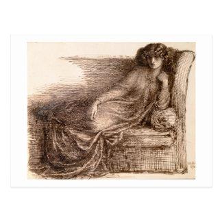 ソファーのジェーンMorris Reclining夫人 ポストカード