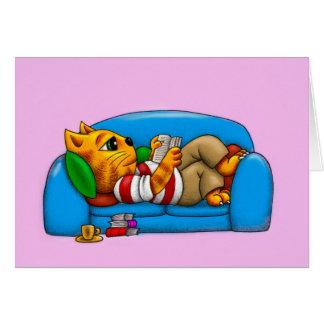 ソファー猫 グリーティングカード
