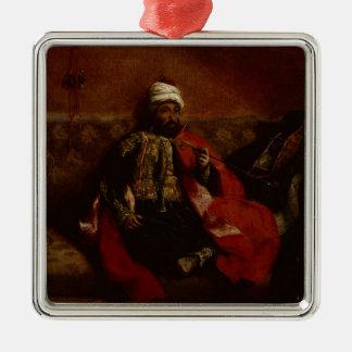 ソファー、c.1825に坐るトルコ人の喫煙 メタルオーナメント