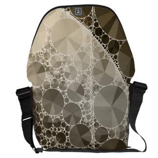 ソフィアのきらきら光るで抽象的なパターン メッセンジャーバッグ