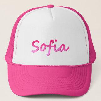 ソフィアのピンクの白いトラック運転手の帽子 キャップ