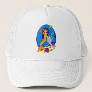 ソフィアオレンジ人魚およびイルカの帽子 キャップ