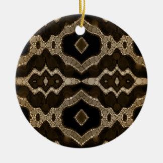 ソフィア豊富な抽象的なパターン 陶器製丸型オーナメント