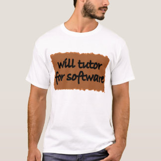 ソフトウェアのために個別指導します Tシャツ