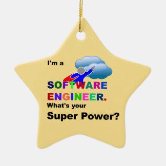 ソフトウェアエンジニアのスーパーヒーロー セラミックオーナメント